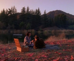 couple, indie, and picnic image