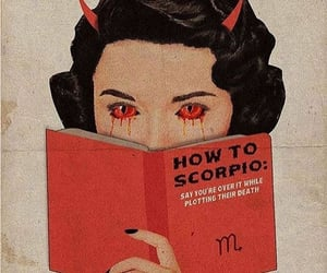 astrology, red, and scorpio image