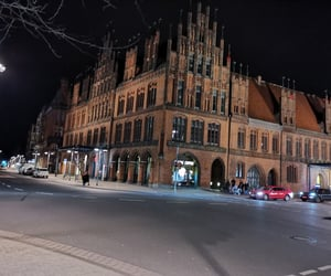 building, evening, and old town image