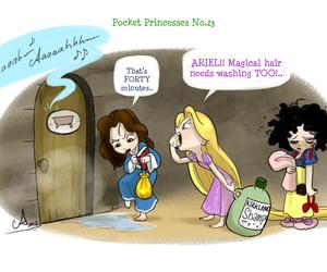 disney, pocket princess, and funny image