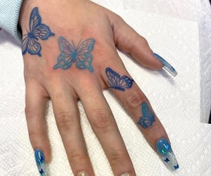 blue, butterfly, and inspo image