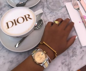 dior, coffee, and luxury image