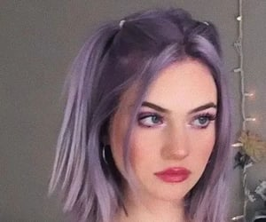 aesthetic, girl, and lavender image
