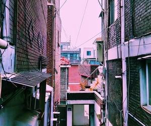 home, korea, and street image