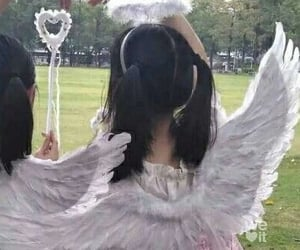 aesthetic, angel, and cyber image