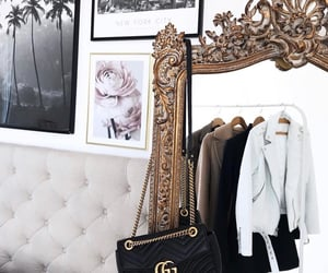 mirror, bag, and chic image