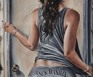 art, drawing, and jack daniels image