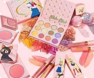 makeup, pink, and cute image