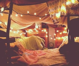 lights, magical, and blanket fort image
