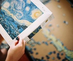 art, artsy, and starry night image