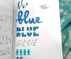 aesthetic, arts, and blue image