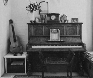 piano, guitar, and vintage image