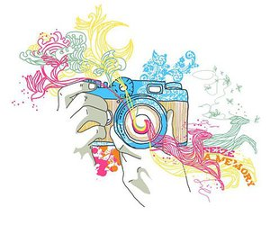 camera, photography, and art image