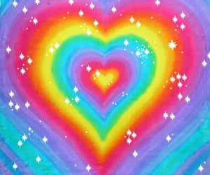 rainbow, aesthetic, and heart image
