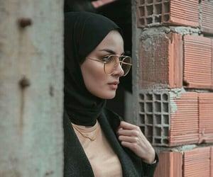 hijab, style, and t-shirt image