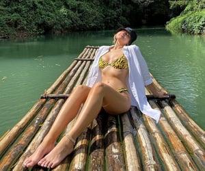 bikinis, girl, and green image