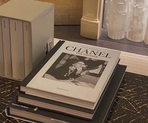 books, chanel, and chic image