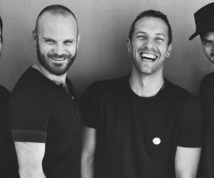 black, coldplay, and white image