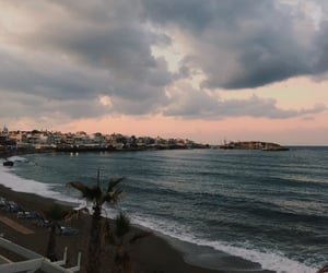 beach, clouds, and Greece image