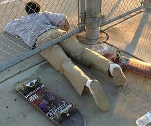boy, skateboard, and skate image