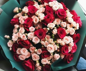 flowers, rose, and bouquet image