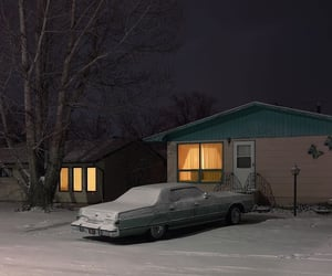 car, winter, and night image
