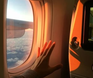 aesthetic, travel, and airplane image