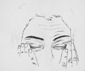art, drawing, and sad image