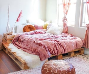bed, decor, and decorations image