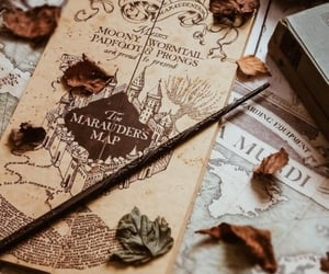 harry potter, fall, and marauders map image
