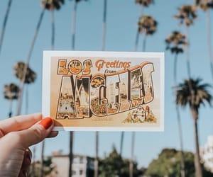 la, los angeles, and postcard image