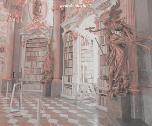 aesthetic, library, and pink image