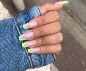 denim, fresh, and nails image