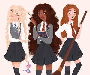 art, ginny weasley, and girl power image
