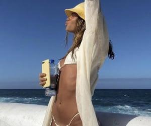 beach, bikini, and skinny image