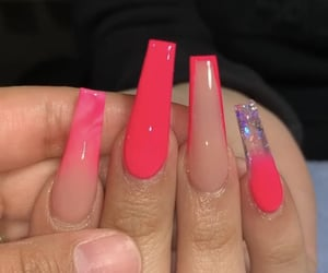 acrylic, coffin, and long nails image
