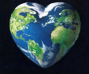 earth, heart, and world image