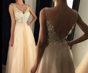 prom gown, lace prom dress, and vestido de longo image