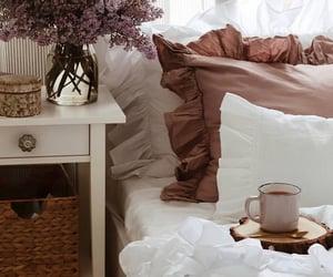 bed, coffee cup, and coffee mug image