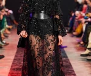 black, dress, and elie saab image