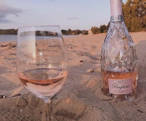 beach, drink, and pink image