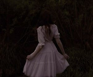 dark, dress, and forest image