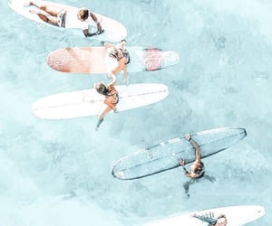 summer, aesthetic, and surfing image