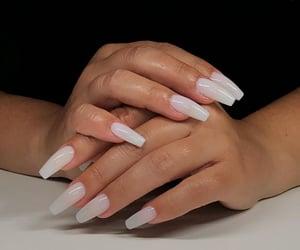 nails and milky nails image