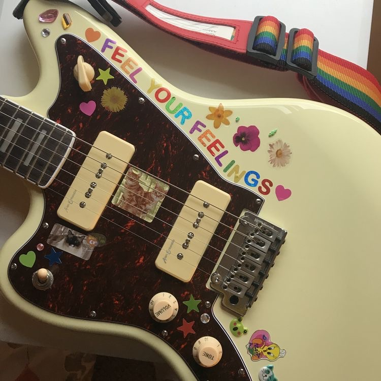 guitar and stickers image