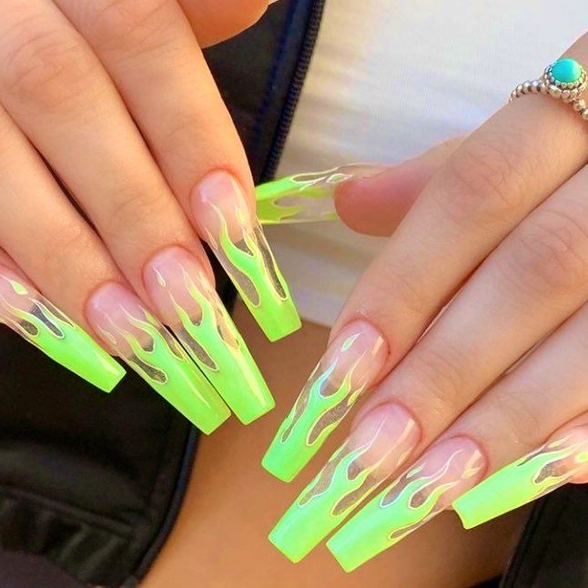 Neon Nails Shared By Charly On We Heart It