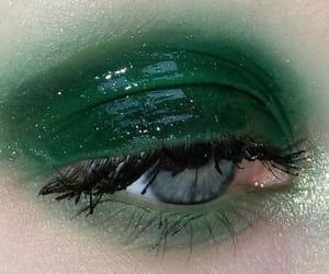 green, makeup, and eye image