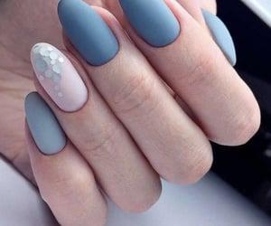 blue, nail art, and pink image