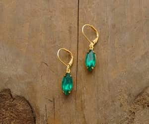 fashion, jewelry, and green earrings image
