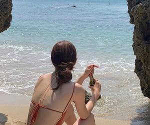 beach, girl, and korean image
